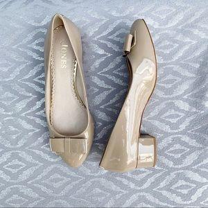 Jones shoes nude low heel bow detail EUR 39 US 8.5